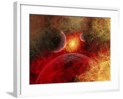 Artist' Concept Illustrating the Stellar Explosion of a Supernova-Stocktrek Images-Framed Art Print
