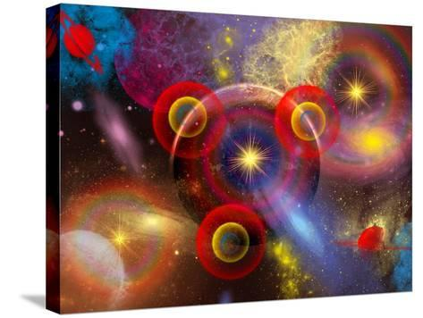 Artist's Concept of Planets and Stars Mixed Together in an Ever-Changing Nebula-Stocktrek Images-Stretched Canvas Print