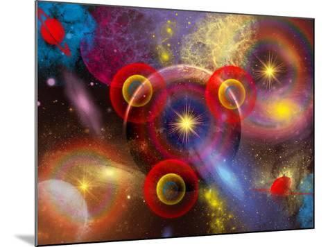 Artist's Concept of Planets and Stars Mixed Together in an Ever-Changing Nebula-Stocktrek Images-Mounted Photographic Print