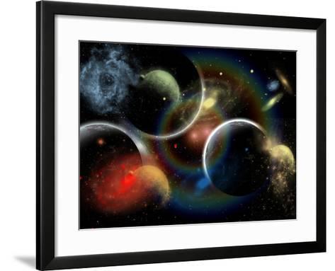 Artist's Concept Illustrating the Edge of Space-Stocktrek Images-Framed Art Print