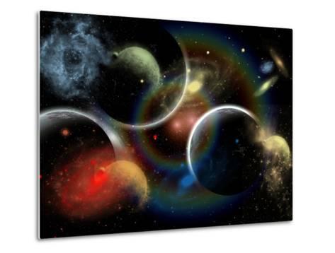 Artist's Concept Illustrating the Edge of Space-Stocktrek Images-Metal Print