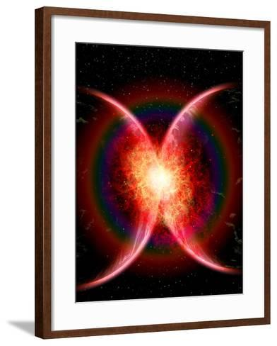 Artist's Concept Illustrating the Point When Two Planets Touch-Stocktrek Images-Framed Art Print