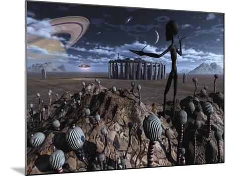 Alien Explorers on an Alien World-Stocktrek Images-Mounted Photographic Print