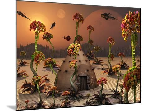 An Alien Landscape Where the Plants Reach Enormous Sizes-Stocktrek Images-Mounted Photographic Print