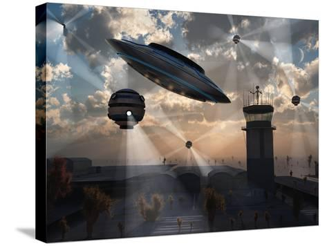 Artist's Concept of Stealth Technology Being Developed on Area 51-Stocktrek Images-Stretched Canvas Print
