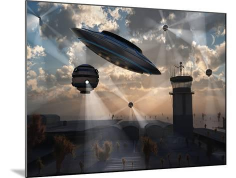 Artist's Concept of Stealth Technology Being Developed on Area 51-Stocktrek Images-Mounted Photographic Print