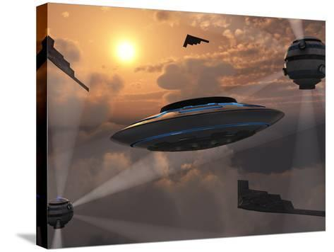 Artist's Concept of Alien Stealth Technology-Stocktrek Images-Stretched Canvas Print
