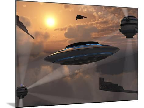 Artist's Concept of Alien Stealth Technology-Stocktrek Images-Mounted Photographic Print