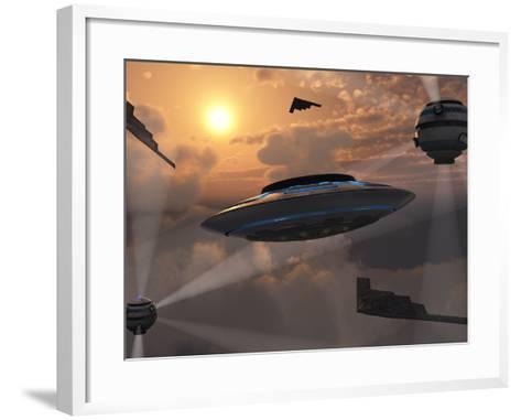 Artist's Concept of Alien Stealth Technology-Stocktrek Images-Framed Art Print