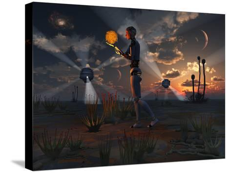 Artist's Concept of a Quest to Find New Forms of Energy-Stocktrek Images-Stretched Canvas Print
