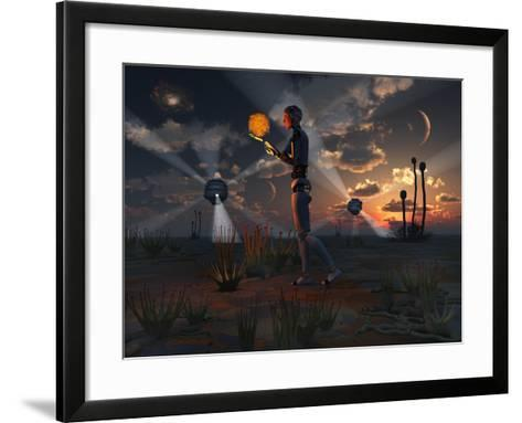 Artist's Concept of a Quest to Find New Forms of Energy-Stocktrek Images-Framed Art Print