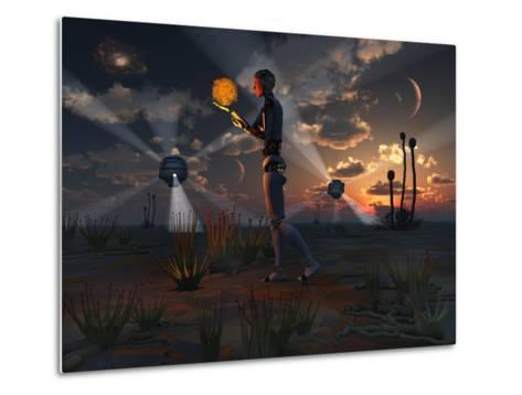 Artist's Concept of a Quest to Find New Forms of Energy-Stocktrek Images-Metal Print