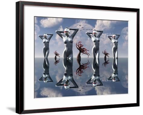 Artist's Concept of Pleasure Droids-Stocktrek Images-Framed Art Print