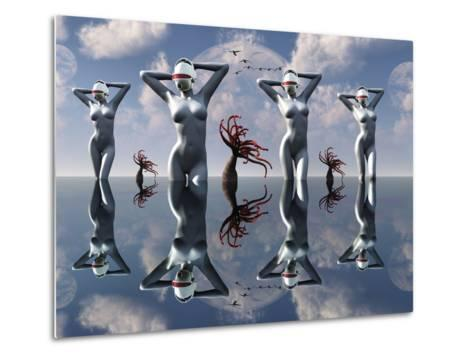 Artist's Concept of Pleasure Droids-Stocktrek Images-Metal Print