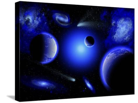 Blue Stars are Amongst the Youngest of the Stars in the Universe-Stocktrek Images-Stretched Canvas Print
