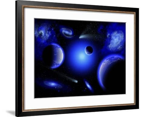 Blue Stars are Amongst the Youngest of the Stars in the Universe-Stocktrek Images-Framed Art Print