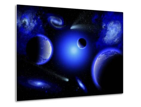 Blue Stars are Amongst the Youngest of the Stars in the Universe-Stocktrek Images-Metal Print