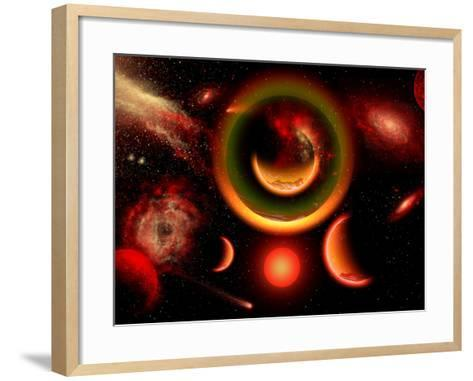 The Universe Is a Place of Intense Color and Beauty-Stocktrek Images-Framed Art Print