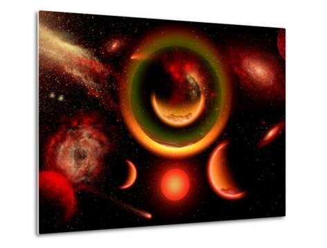The Universe Is a Place of Intense Color and Beauty-Stocktrek Images-Metal Print