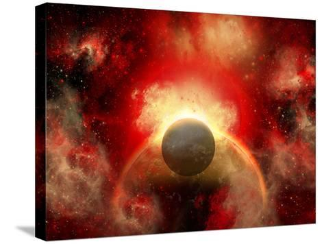 Artist' Concept Illustrating the Explosion of a Supernova-Stocktrek Images-Stretched Canvas Print