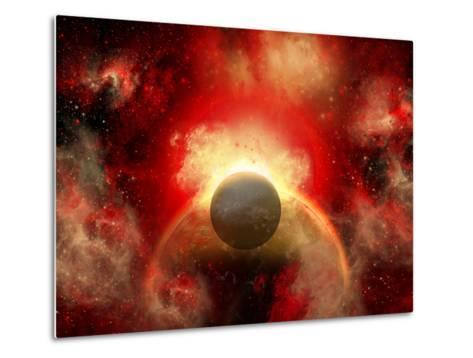 Artist' Concept Illustrating the Explosion of a Supernova-Stocktrek Images-Metal Print