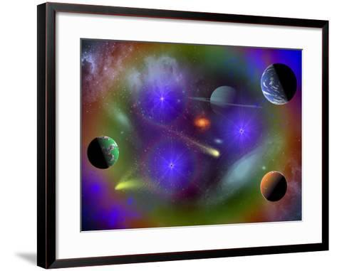 Conceptual Image of a Scene in Outer Space-Stocktrek Images-Framed Art Print
