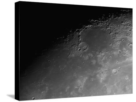 Close-Up Detail View of the Moon-Stocktrek Images-Stretched Canvas Print