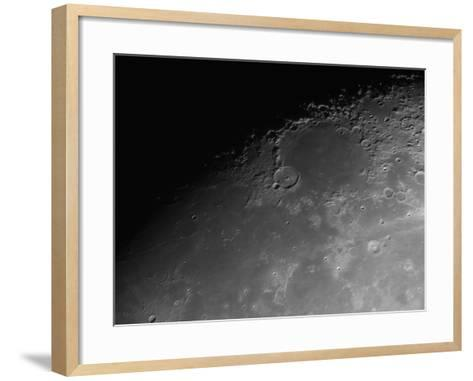 Close-Up Detail View of the Moon-Stocktrek Images-Framed Art Print