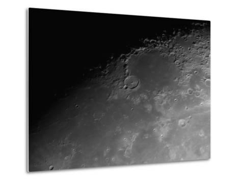 Close-Up Detail View of the Moon-Stocktrek Images-Metal Print