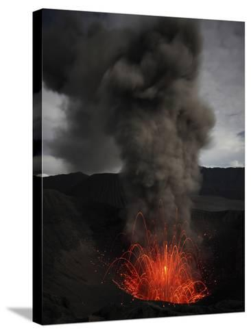 Strombolian Eruption of Mount Bromo Volcano, Tengger Caldera, Java, Indonesia-Stocktrek Images-Stretched Canvas Print