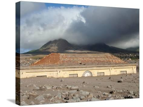 Plymouth Courthouse Buried in Lahar Deposits from Soufriere Hills Volcano, Montserrat, Caribbean-Stocktrek Images-Stretched Canvas Print