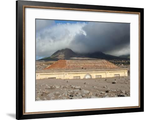 Plymouth Courthouse Buried in Lahar Deposits from Soufriere Hills Volcano, Montserrat, Caribbean-Stocktrek Images-Framed Art Print