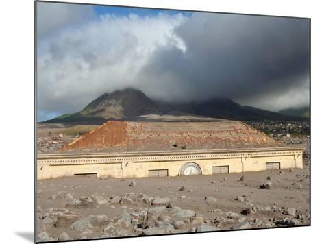 Plymouth Courthouse Buried in Lahar Deposits from Soufriere Hills Volcano, Montserrat, Caribbean-Stocktrek Images-Mounted Photographic Print
