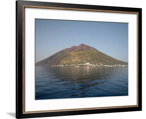 Stromboli Volcano, Aeolian Islands, Mediterranean Sea, Italy-Stocktrek Images-Framed Art Print