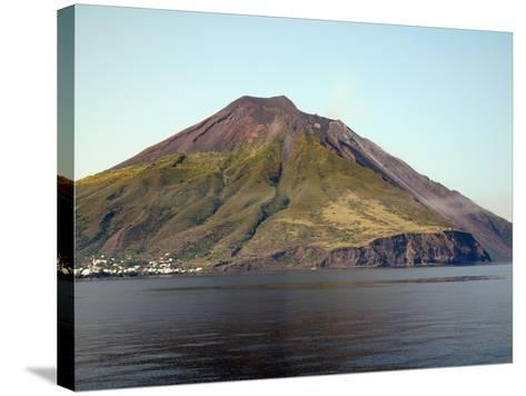 Stromboli Volcano, Aeolian Islands, Mediterranean Sea, Italy-Stocktrek Images-Stretched Canvas Print
