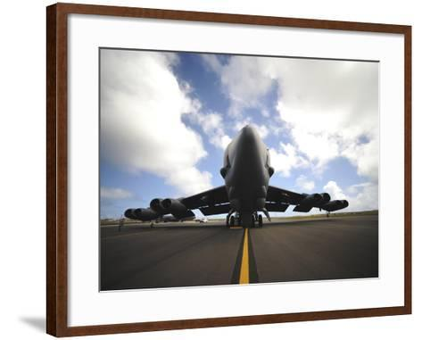 A U.S. Air Force Maintenance Crew Performs Post Flight Checks on a B-52 Stratofortress-Stocktrek Images-Framed Art Print