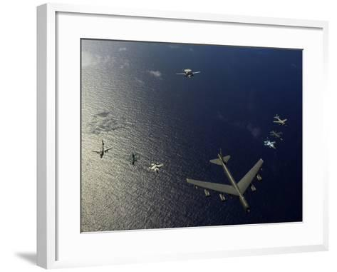 A U.S. Air Force B-52 Stratofortress Aircraft Leads a Formation of Aircraft-Stocktrek Images-Framed Art Print
