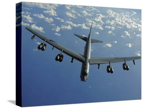 A U.S. Air Force B-52 Stratofortress Flies a Mission over the Pacific Ocean-Stocktrek Images-Stretched Canvas Print