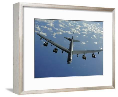 A U.S. Air Force B-52 Stratofortress Flies a Mission over the Pacific Ocean-Stocktrek Images-Framed Art Print