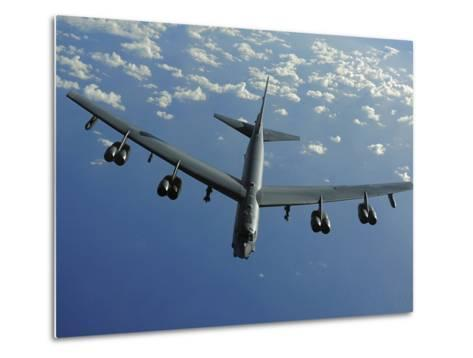 A U.S. Air Force B-52 Stratofortress Flies a Mission over the Pacific Ocean-Stocktrek Images-Metal Print