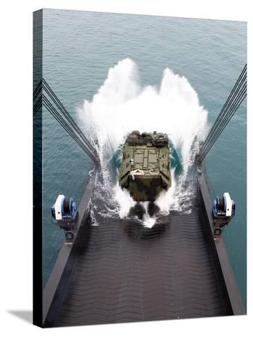 Amphibious Assault Vehicles Disembark from USNS 1st LT Jack Lummus-Stocktrek Images-Stretched Canvas Print