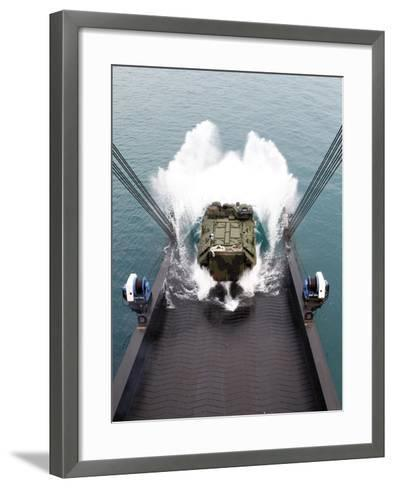 Amphibious Assault Vehicles Disembark from USNS 1st LT Jack Lummus-Stocktrek Images-Framed Art Print