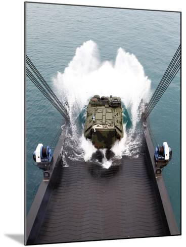 Amphibious Assault Vehicles Disembark from USNS 1st LT Jack Lummus-Stocktrek Images-Mounted Photographic Print