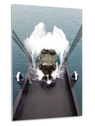 Amphibious Assault Vehicles Disembark from USNS 1st LT Jack Lummus-Stocktrek Images-Metal Print