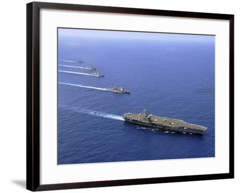 Military Ships Operate in Formation in the South China Sea-Stocktrek Images-Framed Art Print