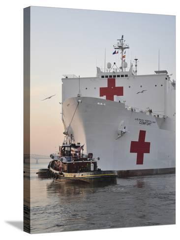 The Hospital Ship USNS Comfort Departs for Deployment-Stocktrek Images-Stretched Canvas Print