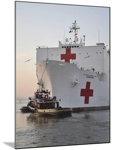 The Hospital Ship USNS Comfort Departs for Deployment-Stocktrek Images-Mounted Photographic Print
