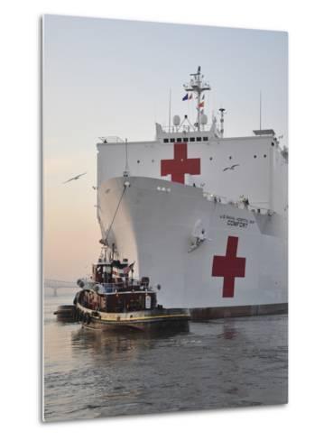 The Hospital Ship USNS Comfort Departs for Deployment-Stocktrek Images-Metal Print