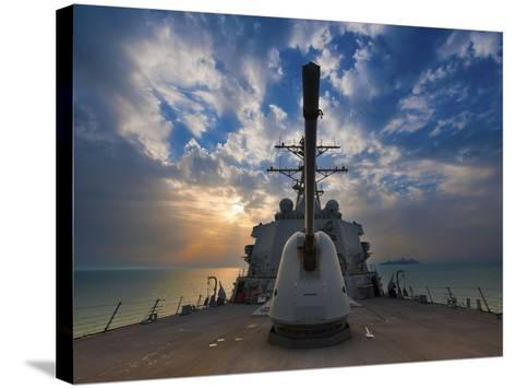 Guided-Missile Destroyer USS Higgins-Stocktrek Images-Stretched Canvas Print