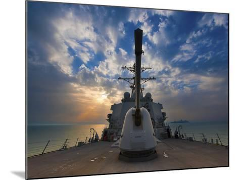 Guided-Missile Destroyer USS Higgins-Stocktrek Images-Mounted Photographic Print